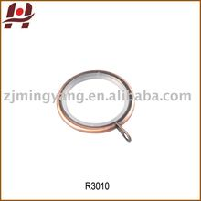 R3010 metal iron zinc alloy square round window curtain rings