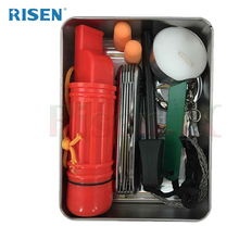 10 Piece Outdoor Travel Tin Box Survival Kit Disaster Survival Gear Emergency Preparedness Survival Kit for Camping,Hiking