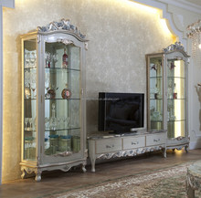 Antique Marble Top TV Stand Classic wooden cupboard designs modern living room cabinet design