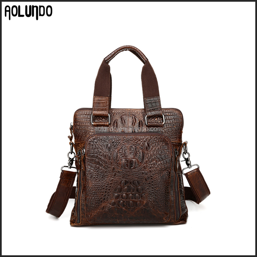 Fashion alligator shoulder bags genuine leather handbag italy for men