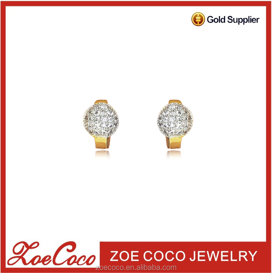 new 2017 latest gold earring, high quality hoop earring, saudi gold jewelry