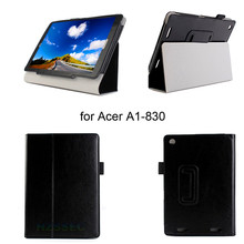 360 Degree Rotating 2-Folding Stand Case Travel Carrying Fashion Cover For Acer A1-830 7.9 inch (Black White)
