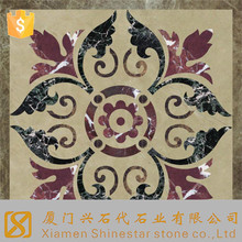 Hotel Designs Rectangle Cheap Marble Waterjet Cut Floor Medallion