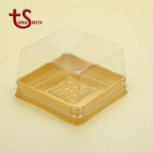 Clear plastic blister packaging box for mooncake/plastic food packing box