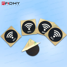 For food 13.56Mhz HF logo printing RFID anti-fake security tag sticker with 3M adhesive,Destructible NFC tag/