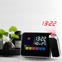 Smart Digital Wall Projector Clock Led Alarm Clocks with Calendar Weather Station