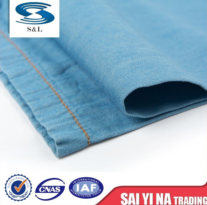 Cotton wholesale hot sale denim jeans fabric materials for making clothes