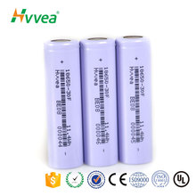 Rechargeable Cylindrical 18650 3000mAh 3.7V lithium ion battery cell for power bank