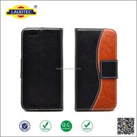 Geniune real leather for mixed color wallet case for iphone6