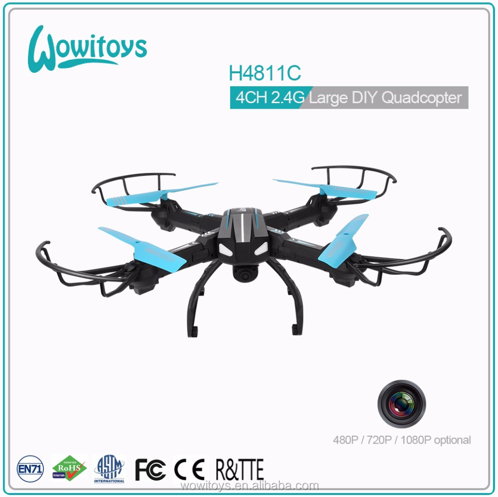 Top quality 2.4G 4CH quadcopter DIY drone with hd camera