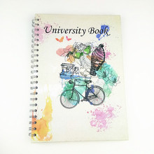 Campus double spiral binding hardcover notebook with nice cover page printing and high quality
