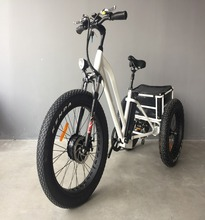 Aluminum alloy 3 wheel fat tire electric tricycle with passenger seat