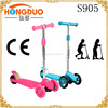 3 wheel kids pedal push scooter with light