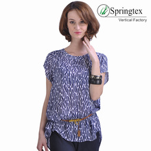 OEM service casual ladies shirts short sleeve womens tops blouses 2018