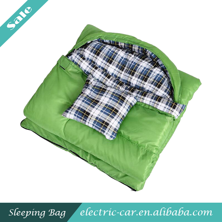 Wholesale 100% Cotton Flannel Sleeping Bag Sleeping Bag with Pillow