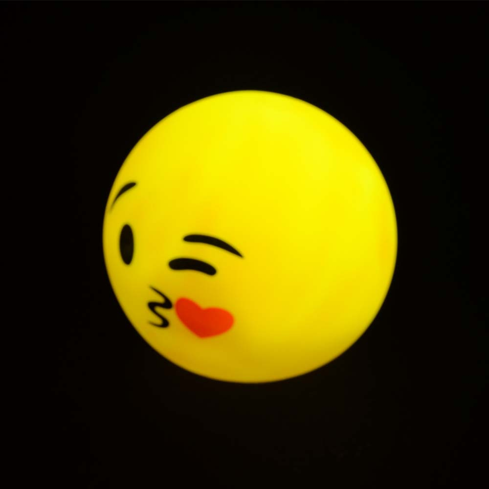 New style LED PVC smiling face toy for kids round shape colorful flashing decoration for living room