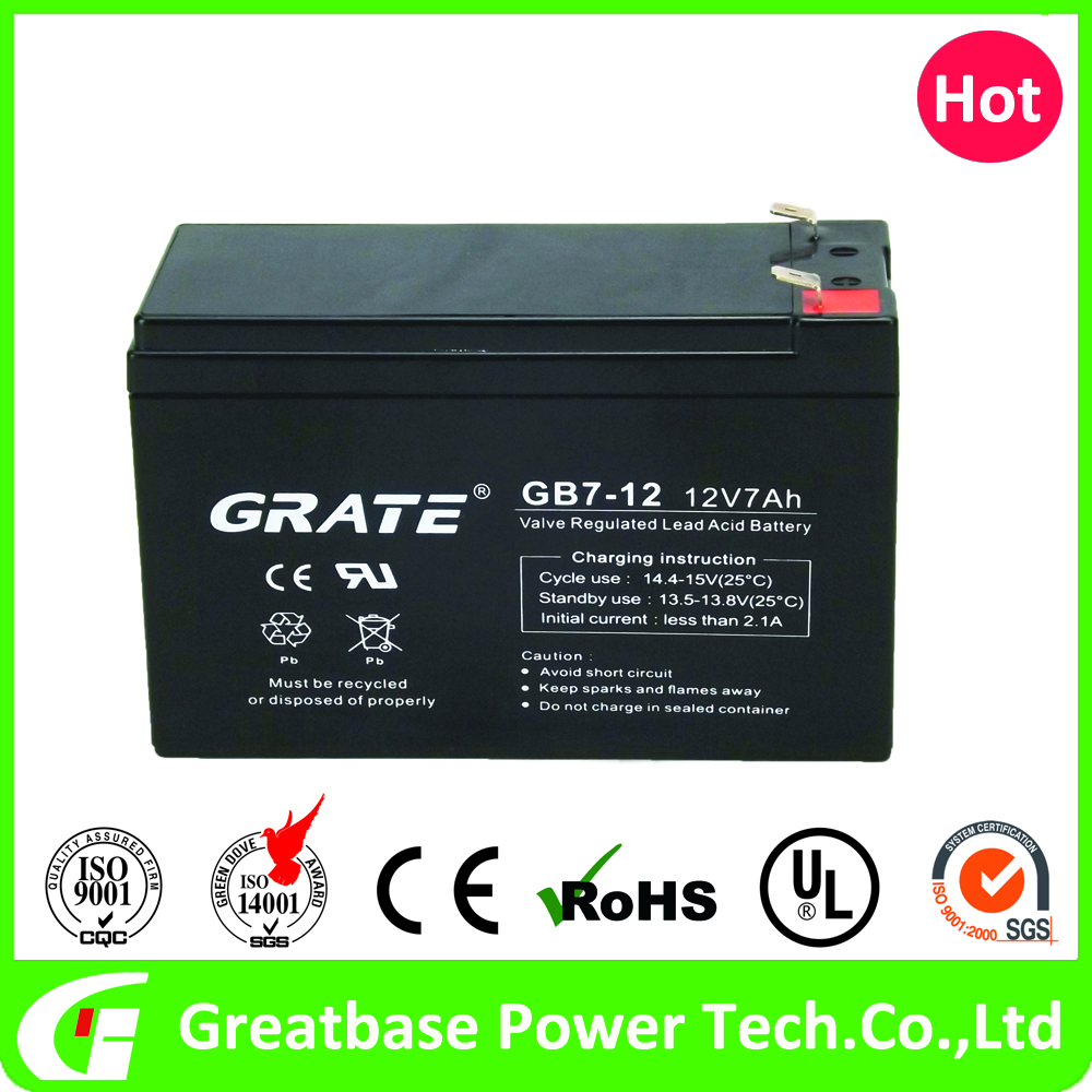 Sealed lead acid battery ups inverter smf solar battery 12v 7ah