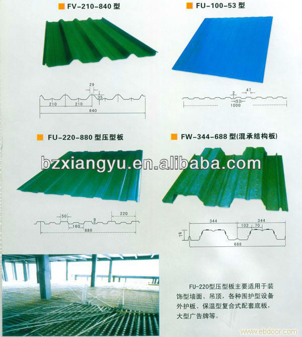 Colored Curved Corrugated Steel Sheet