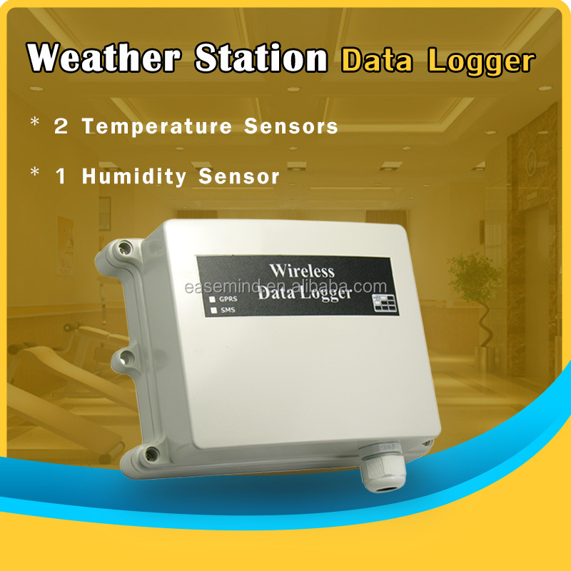 Wireless Low Power Temperature Humidity solar monitor data logger with pc software FOR Weather Station