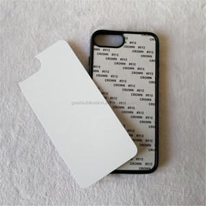 PC mobile phone cover/case with aluminum sheet for sublimation printing
