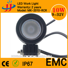 China Factory Directly 9-32v IP67 Mini Size 10W LED Work Light for motorcycle