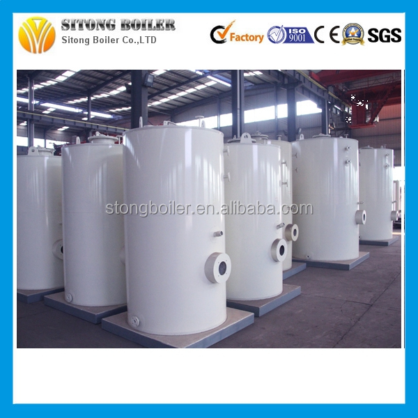 With Italy Germany Burner 300kg-1000kg Vertical Oil Gas fired Steam Boiler