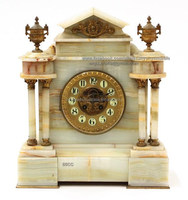 White onyx House shaped Desk and Table Clock