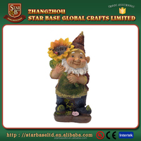 Good-looking color paint crafts cute fairy tale polyresin little man figurine