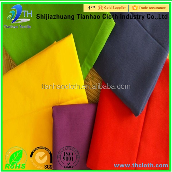 China's production fabric 60% polyester 35% cotton 5% spandex 65 polyester 35 cotton twill fabric