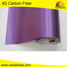 Carlas auto carbon fiber car wrap vinyl film/ air bubble foil/ 4d carbon fiber vinyl car sticker