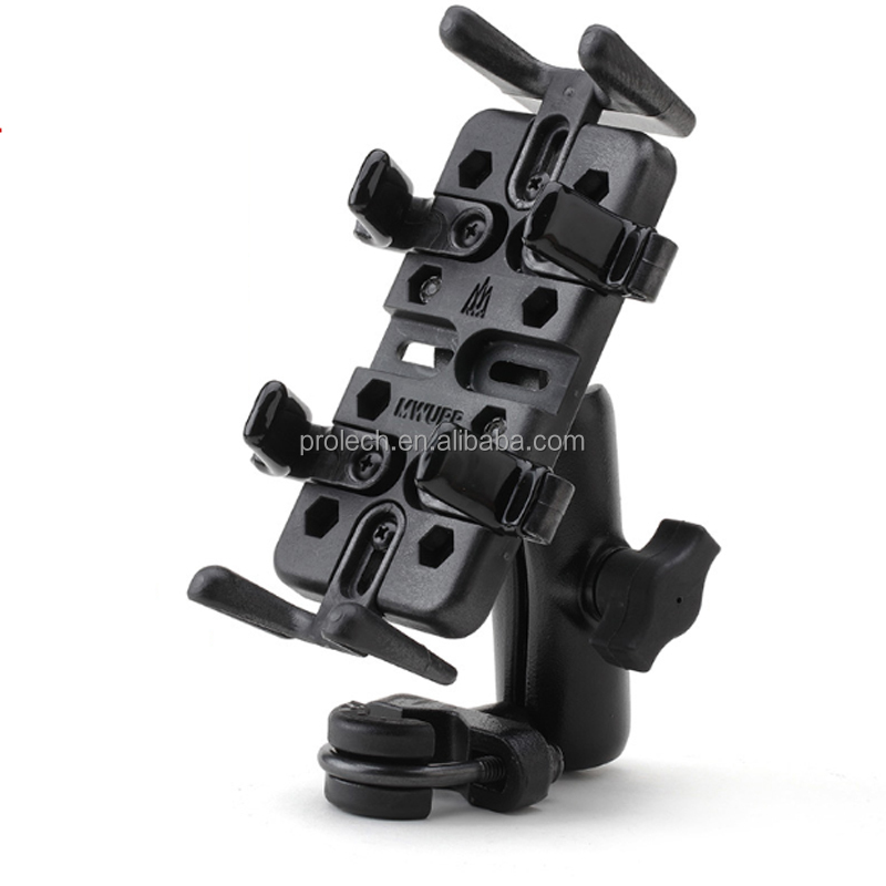Top quality mobile holder for motorcycle black metal motocycle mobile holder bicycle cell phone holder