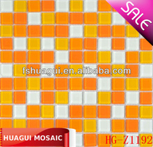 Bright color crystal glass mosaic tile for barthroom kitchen wall background decoration