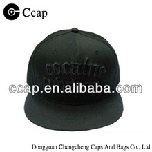 Wholesale black cotton 3D embroidery snapback