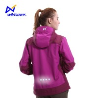 Hi vis windproof waterproof blue windbreaker jacket custom