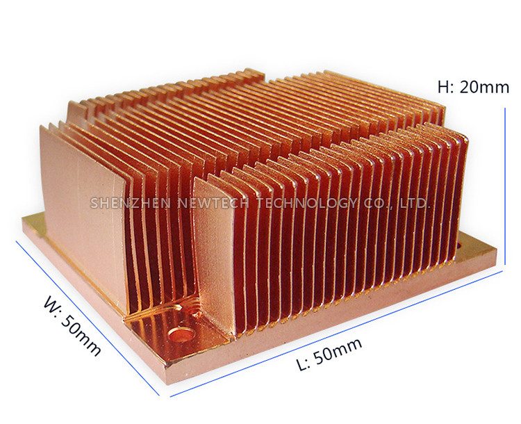 Custom online small skived aluminum/copper heat sink vendor,square heat sink accessory