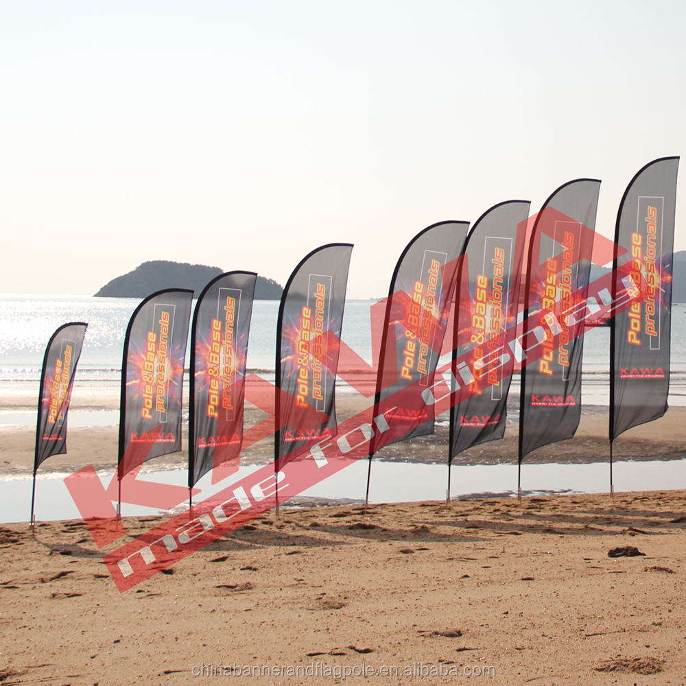 China factory promotional feather flag banner