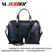 Online shoping fancy soft laptop bag leather computer tote bags
