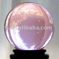solid glass ball,shining ball,pink ball 200mm