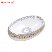 countertop oval shape face washing fancy colored bathroom basins