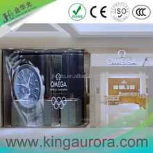 LED video mesh wall, see-through led display screen, transparent media facade