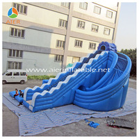 Blue wave twist wahoo inflatable used commercial water slides