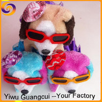 Walking braking Skirt hat glasses plush dogs and puppies for sale