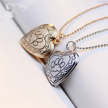 floating girlfriend solid lacie heart pendant necklace