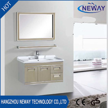Simple stainless steel vanity units for small bathrooms