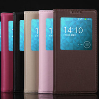 Genuine leather magnetic sleep function smart phone case for Samsung galaxy note 3