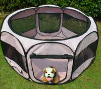 Portable Cat/Dog Exercise Kennel Crate Large Foldable Pet House Pet Tent