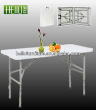 adjustable height folding table ,outdoor plastic table