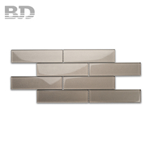 50x200mm Metallic Glass Kitchen And Bathroom Wall Matt Finish Tiles