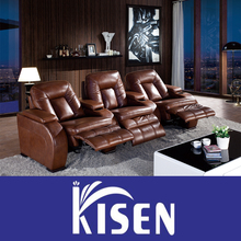 Private customized home theater electric leather recliner sofa KM6051TV