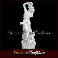 Hand Carved Stone Nude Lady Marble Statue